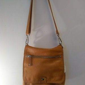 Vintage Leather Fossil crossby